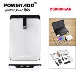23000mAh Portable 5V 9V 12V 16V 19V Charger Power Bank External Battery Charger