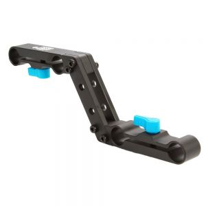 Fotga Offset Raiser Z-shape Railblock Clamp Mount Bracket for 15mm Standard Railrod Special Design for Camera Rig Set Shoulder Rigs