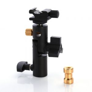 Fotga E-III Type Flash Hot Shoe Umbrella Holder Mount for Flash Speedlite Light Stand Bracket DSLR Camera Tripod