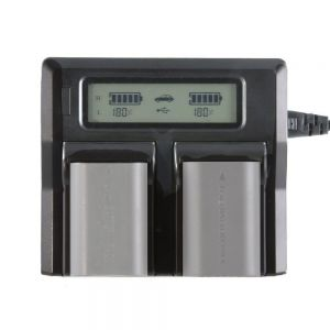 Fotga LCD Dual Battery Charger For Canon LP-E6 7D 6D 5D II III 5Ds R 70D 60D 6D a 80D