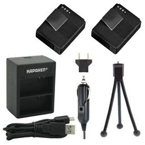 Two AHDBT-301 AHDBT-302 Batteries, Dual Charger & Mini-Tripod for Gopro HD Hero3 and Hero3+ Cameras