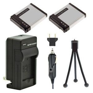 Two AHDBT-001 AHDBT-002 Batteries, Charger & Mini-Tripod for Gopro Hero & Hero2 Cameras