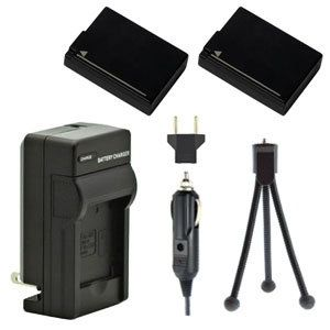 Two DMW-BLD10 Batteries, Charger & Mini-Tripod for Panasonic Lumix Cameras