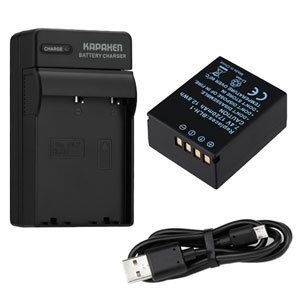 BLH-1 Battery and BCH-1 Travel Charger for Olympus OM-D E-M1 Mark II Cameras, Li-Ion, 1720mAh
