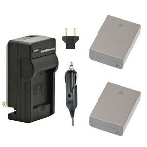 Two BLN-1 Batteries and BCN-1 Charger for Olympus OM-D, PEN Cameras