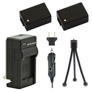 Two DMW-BMB9 Batteries, Charger & Mini-Tripod for Panasonic Lumix Cameras
