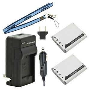 Two BN-VG212 Batteries, Charger & Neck Strap for JVC Everio Camcorders