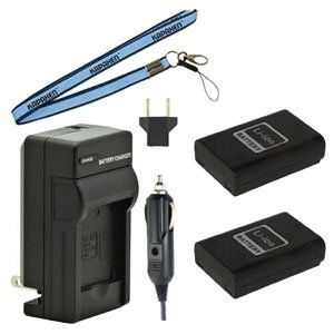 Two ED-BP1310 BP1310 Batteries, Charger & Neck Strap for Samsung NX-10, NX-20 and NX-100 Cameras