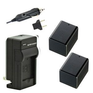 Two BP-727 Intelligent Batteries & Charger for Canon VIXIA HF R600 R500 R52 etc