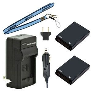 Two EA-BP85A Batteries, Charger & Neck Strap for Samsung ST200F, PL210, WB210, and SH100 Cameras