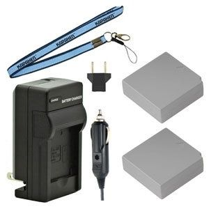 Two IA-BP85ST BP85ST Batteries, One Charger & Neck Strap for Samsung Camcorders
