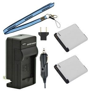 Two BP88A EA-BP88A Batteries, One Charger & Neck Strap for Samsung Cameras