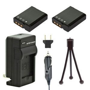 Two NP-130 NP-130DBA Batteries, One Charger & Mini-Tripod for Casio Cameras