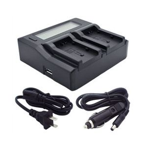 Dual-Channel LCD CG-800 Charger for Canon BP-800 Batteries
