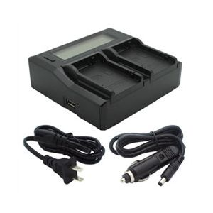 Dual Channel LCD Charger for Canon LP-E8 Batteries