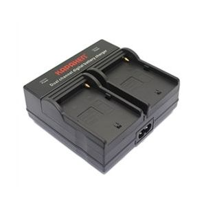 Dual Channel Charger for Sony NP-FM50, NP-FM70, NP-FM71, NP-FM90, NP-FM91, NP-QM71D, and NP-QM91 Batteries