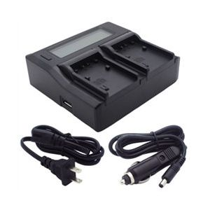Dual Channel LCD Charger for Sony NP-FV30, NP-FV40, NP-FV50, NP-FV70, NP-FV90, and NP-FV100 Batteries