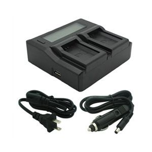 Dual-Channel LCD Charger for Sony NP-FW50 Batteries