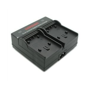 Dual Channel Charger for Panasonic VW-VBT380, VW-VBT190, VW-VBK180, VW-VBK360, VW-VBY100, and VW-VBL090 Batteries