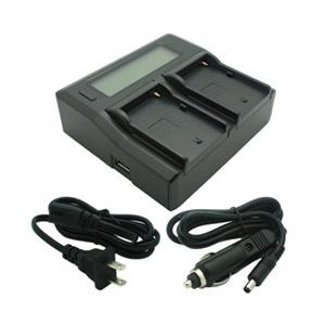 Dual-Channel LCD Charger for Sony NP-F Series Camcorder Batteries