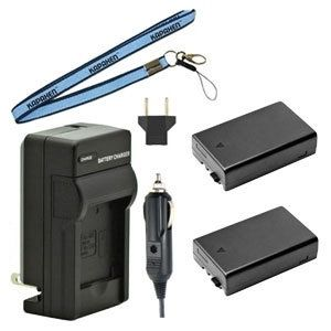 Two D-LI109 Batteries, Charger & Neck Strap for Pentax K-70, K-50, K-30, K-r, K-S1, K-S2 SLR Cameras