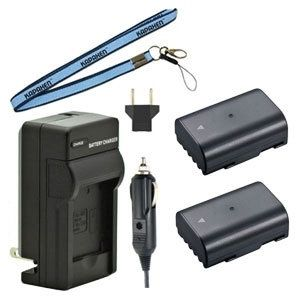 Two D-LI90 Batteries, Charger & Neck Strap for Pentax K-5 II, K-5 IIS, K-01, K-1, K-7, K-5, K-3, K-3 II, 645D, and 645Z SLR Cameras