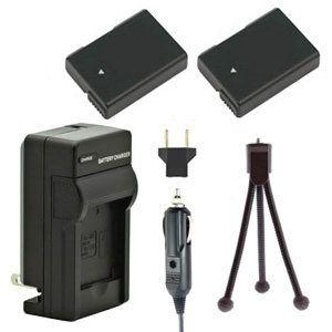 Two EN-EL14 EN-EL14a Batteries, Charger & Mini-Tripod for Nikon Cameras
