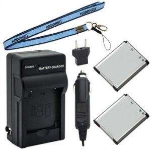 Two EN-EL19 Rechargeable Batteries, One Charger Kit & Neck Strap for Nikon Coolpix Cameras