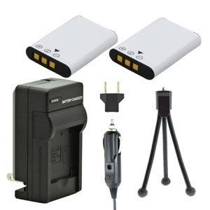 Two EN-EL11 Batteries, One Charger & Mini Tripod for Nikon Coolpix S550 and S560 Cameras