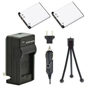 Two NP-45A NP-45S Batteries, One Charger & Mini-Tripod for Fujifilm Cameras