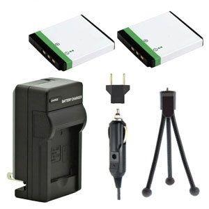 Two New Klic-7001 Rechargeable Batteries Plus One Charger Kit & Mini-Tripod Combo for Kodak Digital Cameras