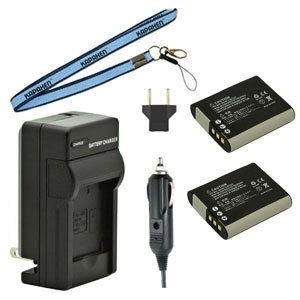 Two LI-92B Batteries, UC-90 Charger & Neck Strap for Olympus Cameras