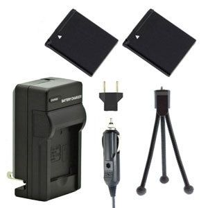 Two NB-11L NB-11LH Batteries, One Charger & Mini Tripod for Canon Powershot Cameras