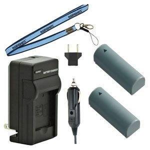 Two NB-9L Batteries Plus One Charger Kit & Neck Strap Combo for Canon Powershot Digital Cameras