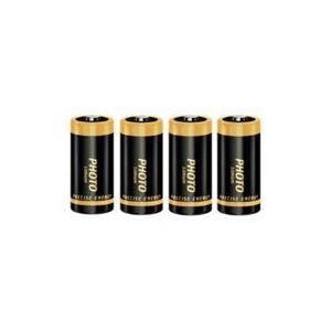 New 4 X CR123A CR123 Lithium Photo Batteries