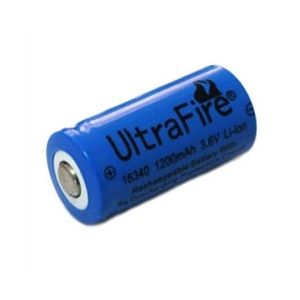 CR123A 16340 Li-Ion Rechargeable Battery