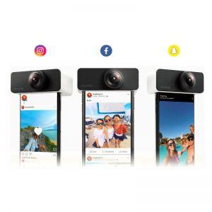 PanoClip Panoramic Mobile Phone Lens 360 External Fisheye Camera Shooting For iPhone
