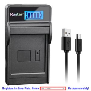 Replacement Battery LCD USB Charger for Sony NP-BG1 NP-FG1 and Sony Cyber-shot DSC-W70