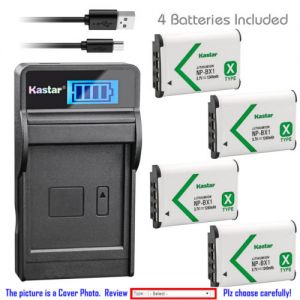 Replacement Battery LCD USB Charger for Sony NP-BX1 BC-CSXB and Sony HDR-AS30 Camera