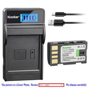 Replacement Battery LCD USB Charger for JVC BN-VF808 BN-VF808U and JVC GS-TD1 Camcorder
