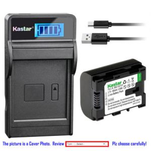 Replacement Battery LCD Charger for JVC BN-VG107 and JVC Everio GV-LS1 Everio GV-LS2