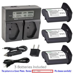 Replacement Battery LCD Dual Fast Charger for Canon LP-E4 LP-E4N and Canon EOS 1D X