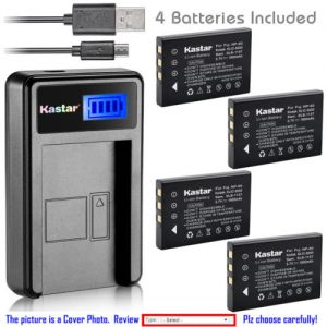 Replacement Battery LCD Charger for ROLLEI Prego dp5300 Prego dp5330 as NP-60
