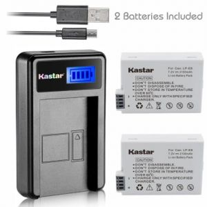 Replacement Battery and LCD Slim USB Charger for Canon LP-E8 EOS 700D T2i T3i T4i T5i