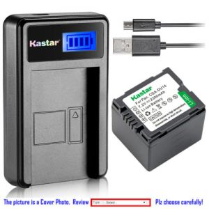 Replacement Battery LCD USB Charger for Panasonic CGR-DU14 CGA-DU14 and NV-GS50 NV-GS55