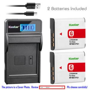 Replacement Battery LCD USB Charger for Sony NP-BG1 NP-FG1 and Sony Cyber-shot DSC-W85