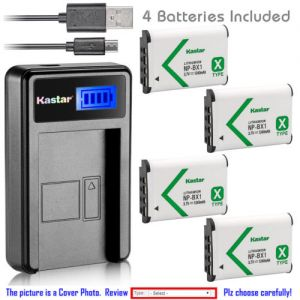 Replacement Battery LCD Charger for Sony NP-BX1 and Sony HDR-CX240E HDR-CX405 HDR-CX440