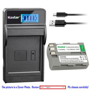 Replacement Battery LCD USB Charger for Nikon EN-EL3e ENEL3e and Nikon D90 DSLR Camera