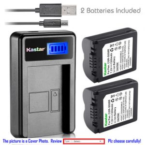 Replacement Battery LCD Charger for Panasonic CGA-S006 and Panasonic Lumix DMC-FZ30EGS