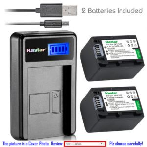 Replacement Battery LCD Charger for Sony NP-FH70 and Sony HDR-SR45 HDR-SR47 HDR-SR5